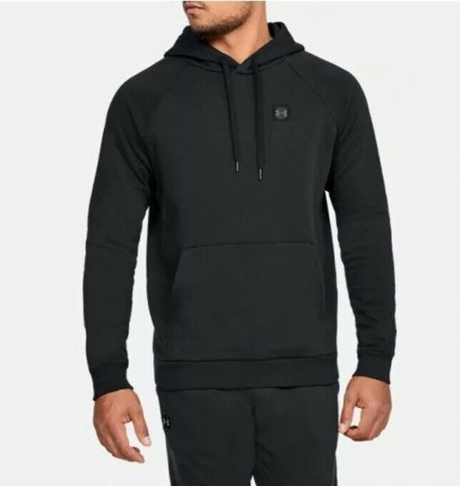 Under Armour Rival Mens Training Hoody Black Soft Fleece Gym Workout Hoodie UA