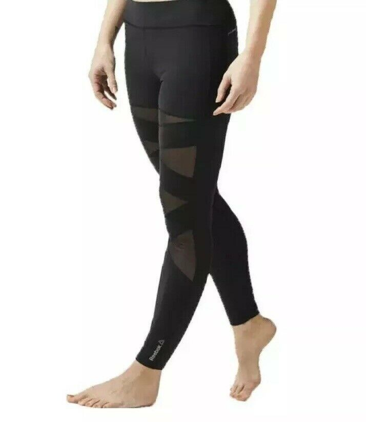 Women's Reebok Cardio Tights Sports Pants Training Workout Wicking BNWT free Del